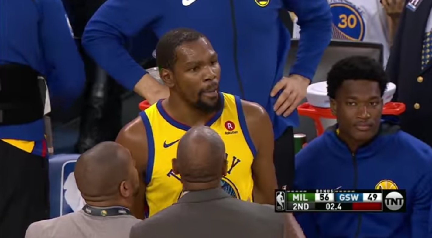 Kevin Durant Was Ejected in the First Half of his Return to the Warriors Lineup