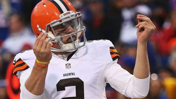 Johnny Manziel Threw a Pick during Spring League Practice, Defender threw up the Money Sign