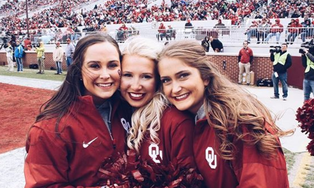 Oklahoma Cheerleader Got Smoked in the Face with a Football