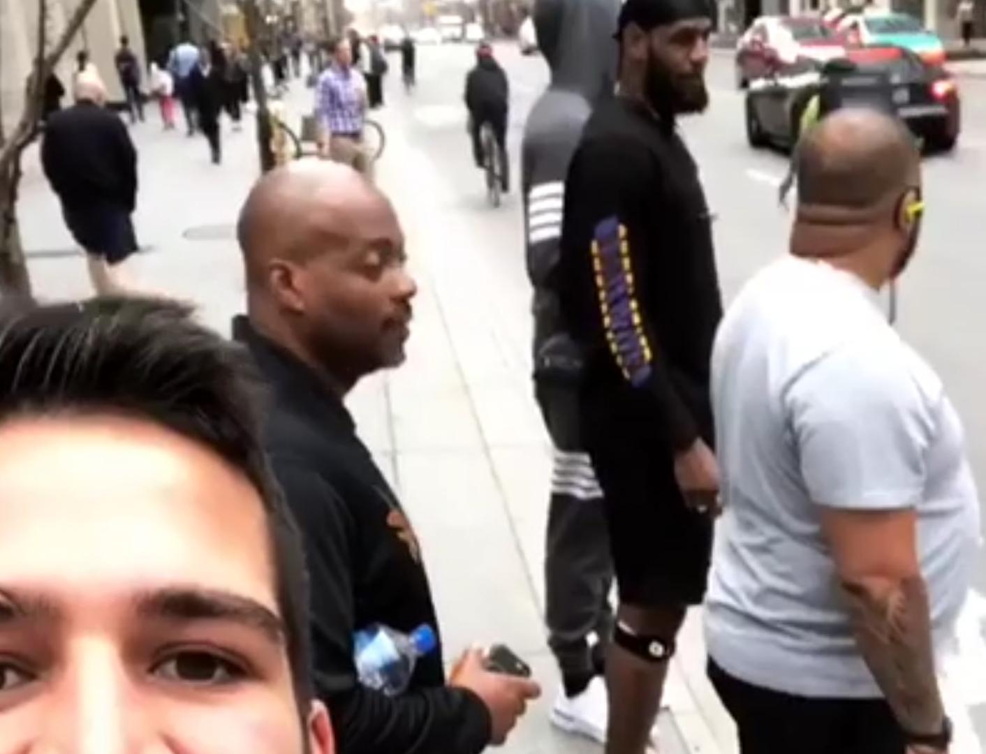 Raptors Fan Trolls LeBron in the Streets of Toronto