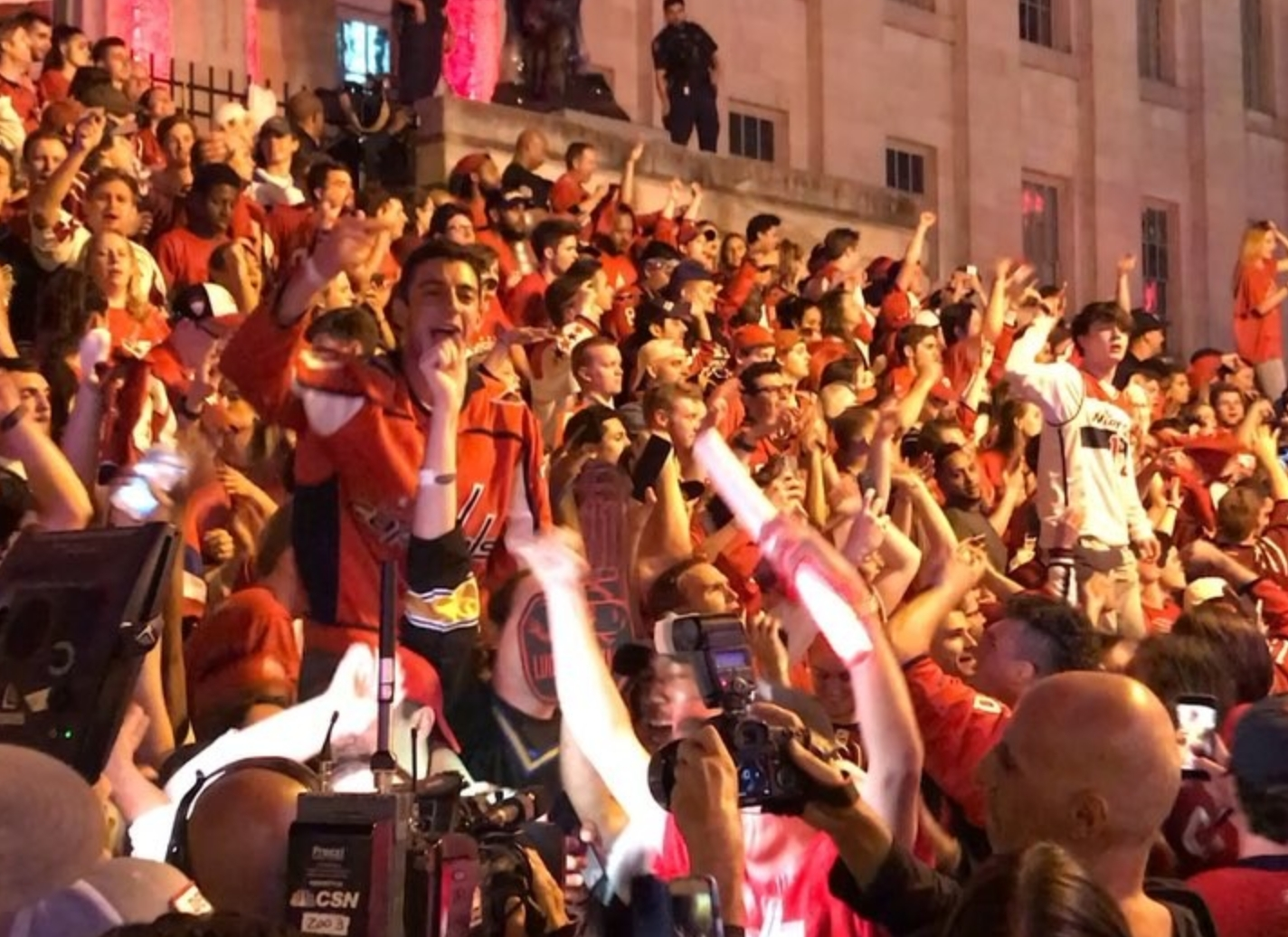 Caps Fans Back in the Streets Celebrating Game 4 Win