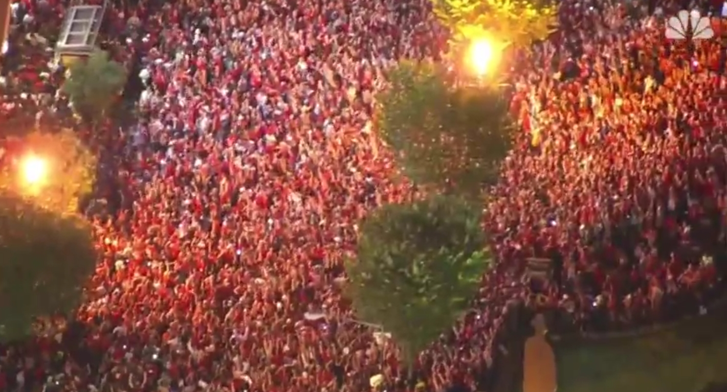Caps Fans Took to the Streets to Celebrate their First Stanley Cup