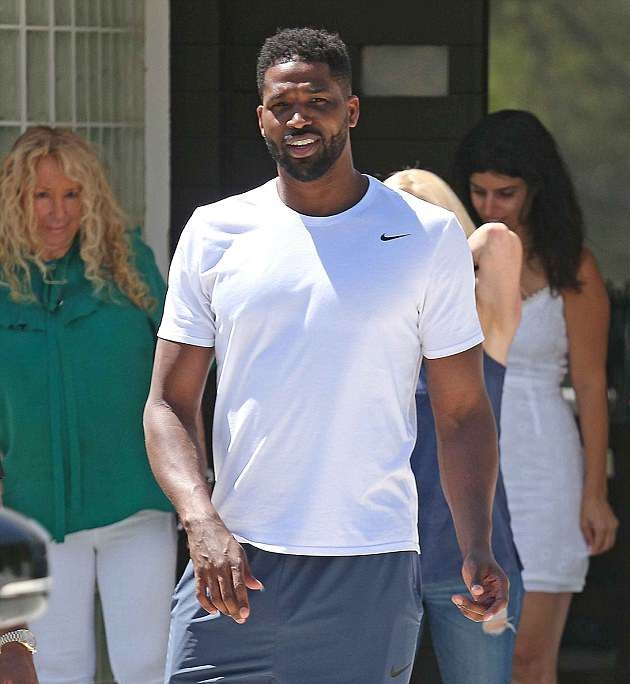Tristan Thompson Goes House Hunting With Some Ladies In Calabasas