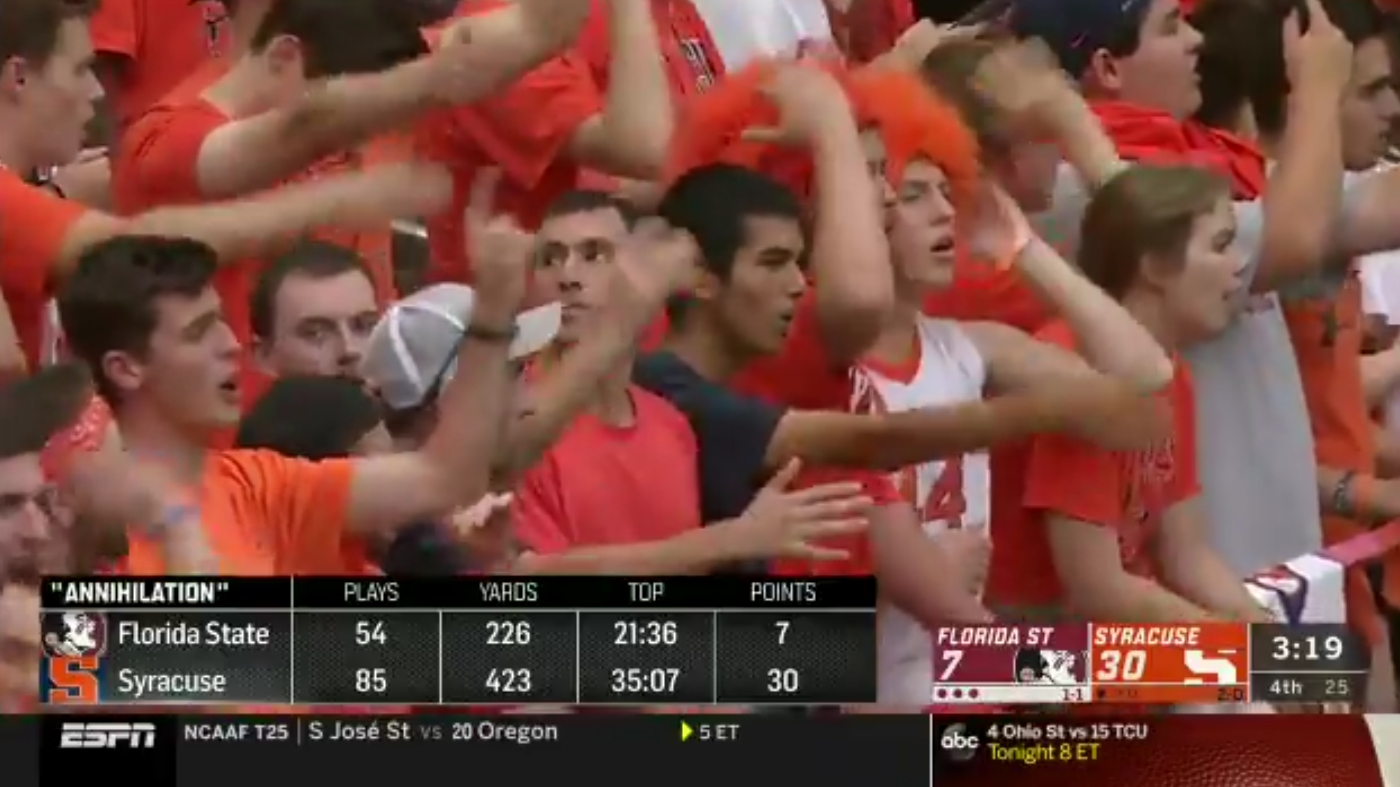 Syracuse Fans Mocked Florida State with Tomahawk Chop
