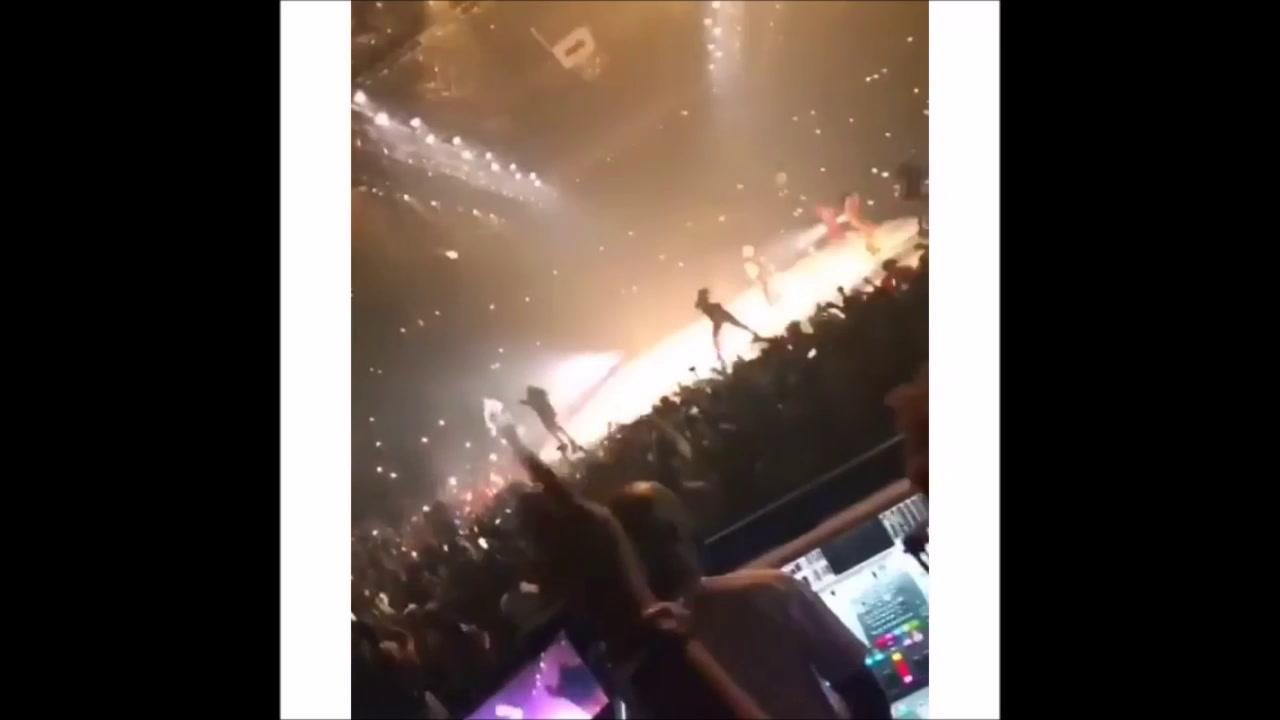 LeBron and Bronny at Drake Concert