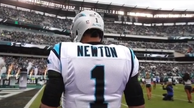 Cam Newton Used the Rocky Theme Song for Highlight Video of him Beating Philly