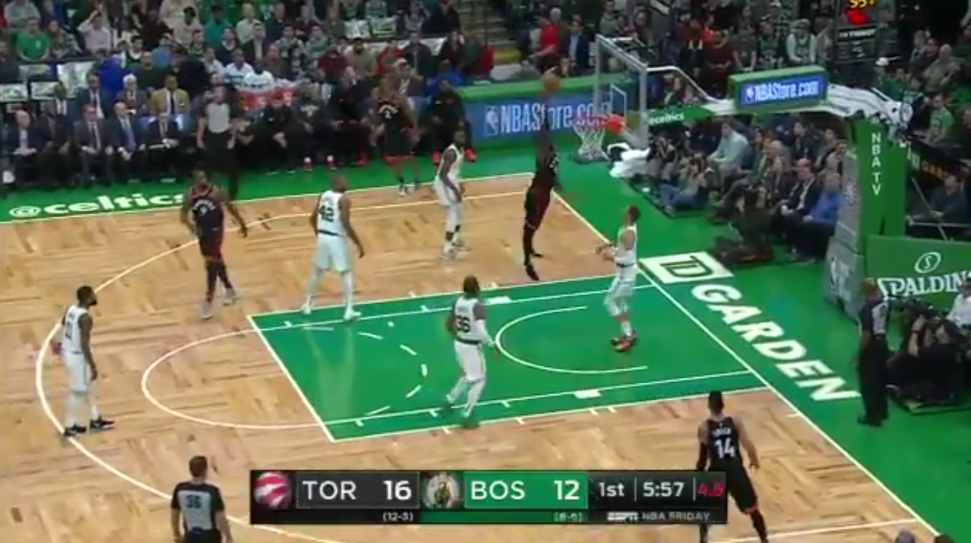 Raptors Forward Pascal Siakam Fails Hard on Wide Open Dunk Attempt