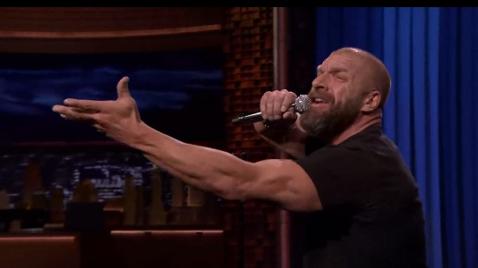Tag-Team Lip Sync Battle with WWE's Triple H, Stephanie McMahon and The New