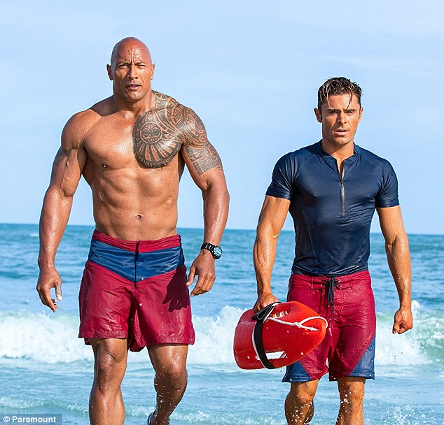 The Rock Accepts Razzie Award for Baywatch
