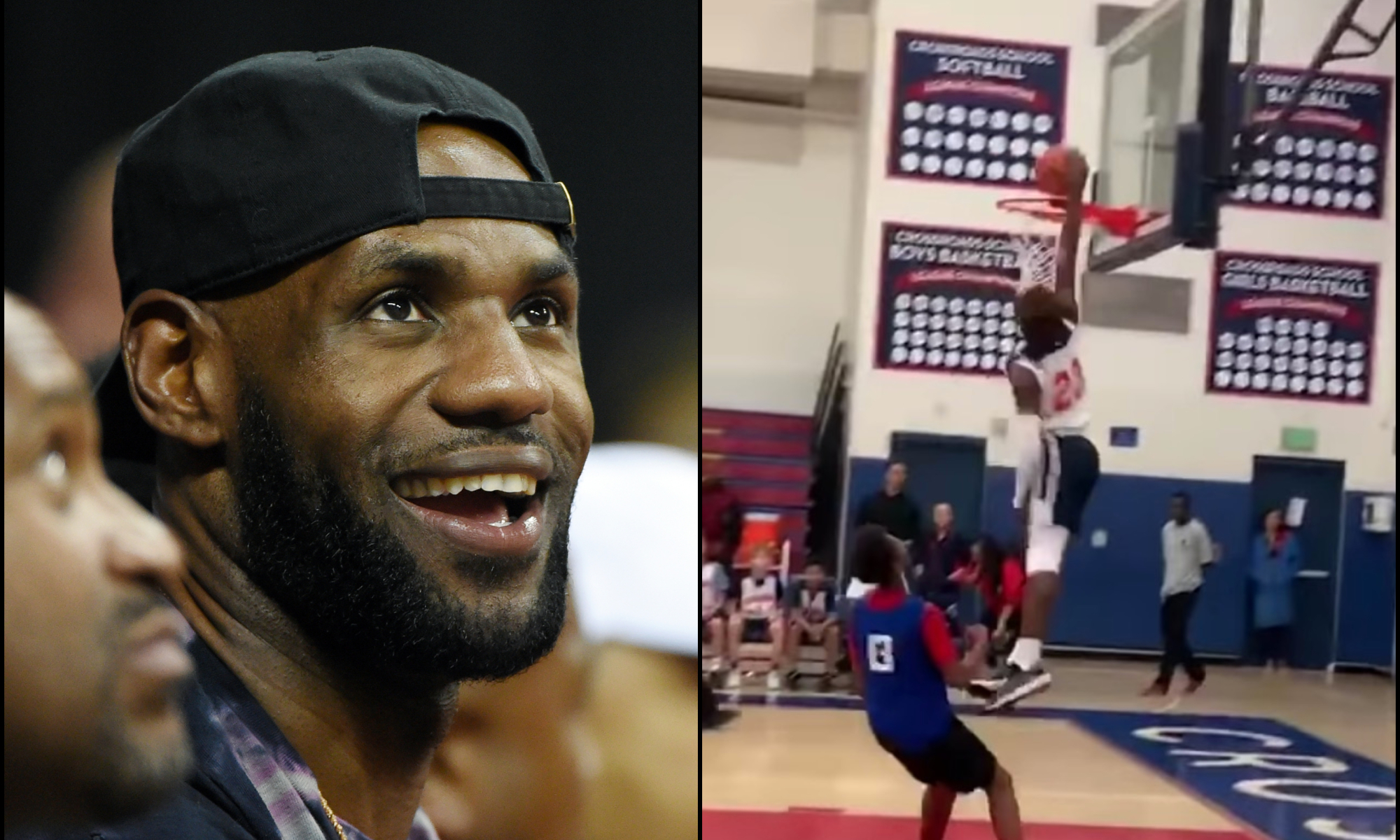 LeBron 'Proud' to See Son Bronny Wearing No. 23 in L.A. Debut