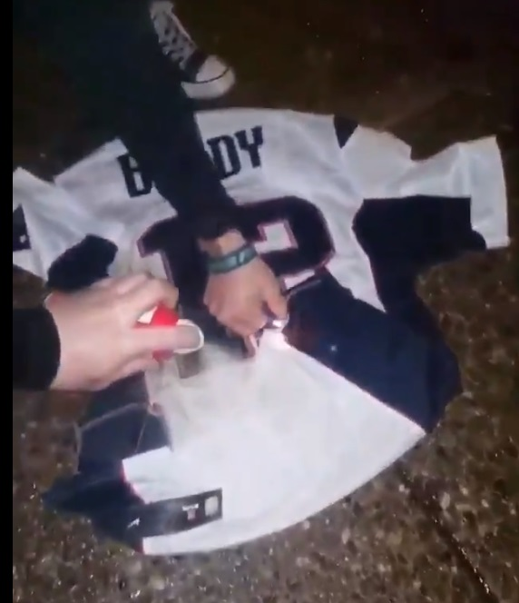 Fans Burn Tom Brady's Jersey After Losing To The Miami Dolphins