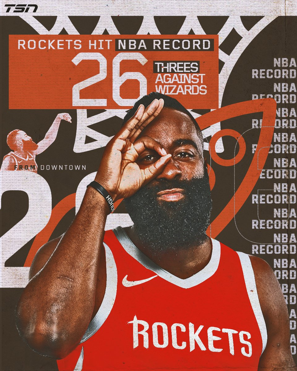 Houston Rockets Hit NBA Record 26 3's