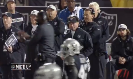 "Jon Gruden Told a Broncos Player to ""Shut the F*ck Up"" While Mic'd Up"