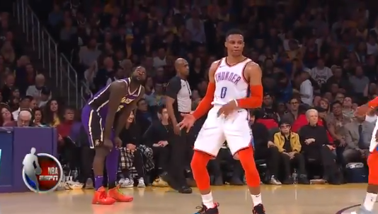 Russell Westbrook Did Lance Stephenson's Celebration after Paul George Scored on Him