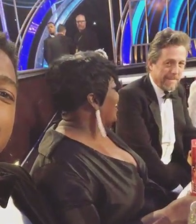 Kevin Durant's Mom Wanda Was Flirting with Hugh Grant at the Golden Globes