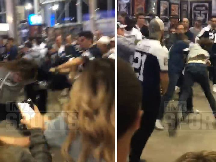 Seahawks Fan Got His Ass Kicked By Cowboys Fans