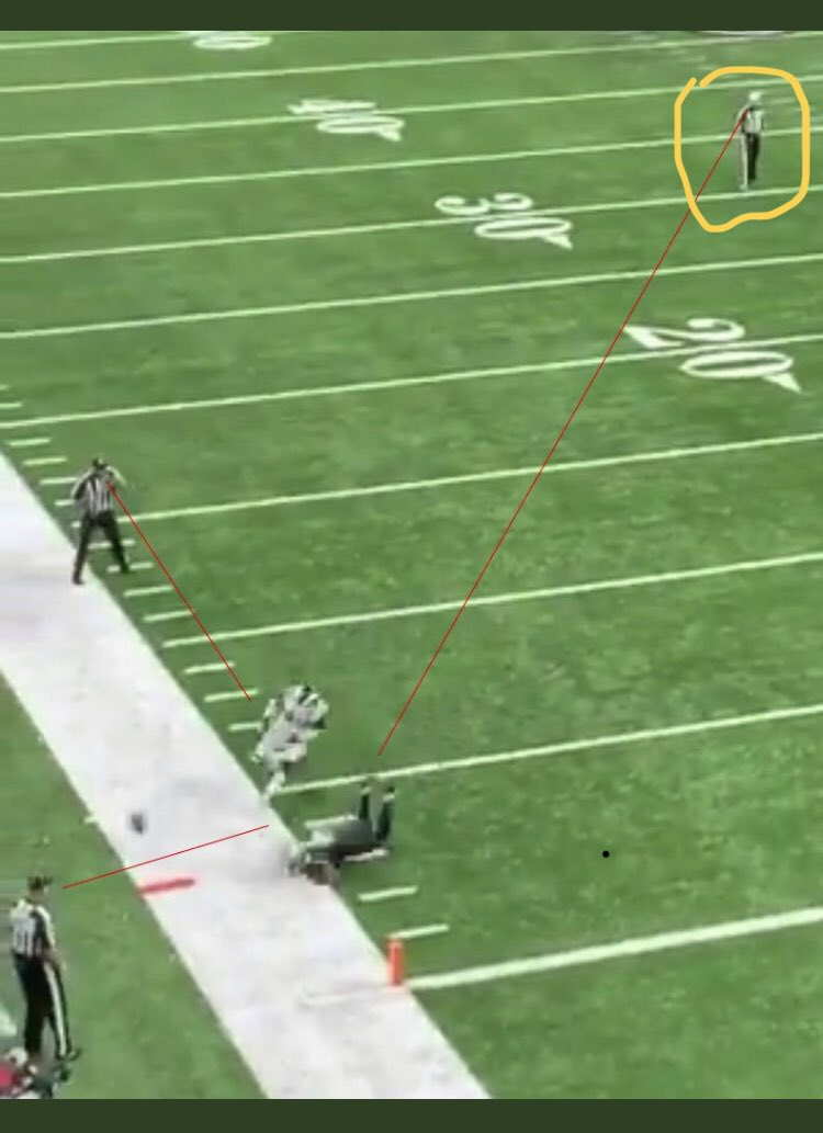 Official Appeared To Wave Off Other Official For Flag During Sunday's No-Call