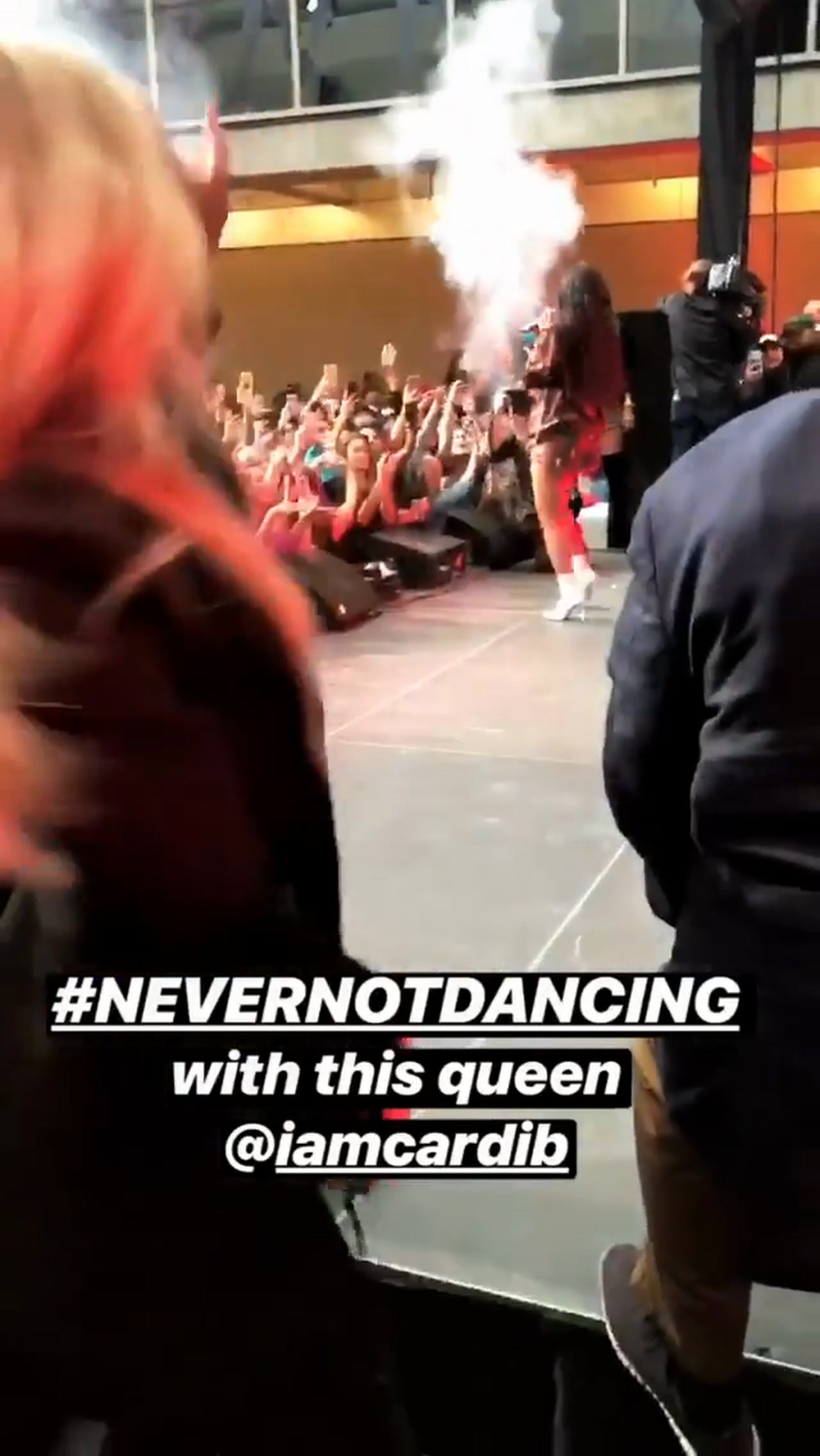 Camille dancing for Tyler Wade