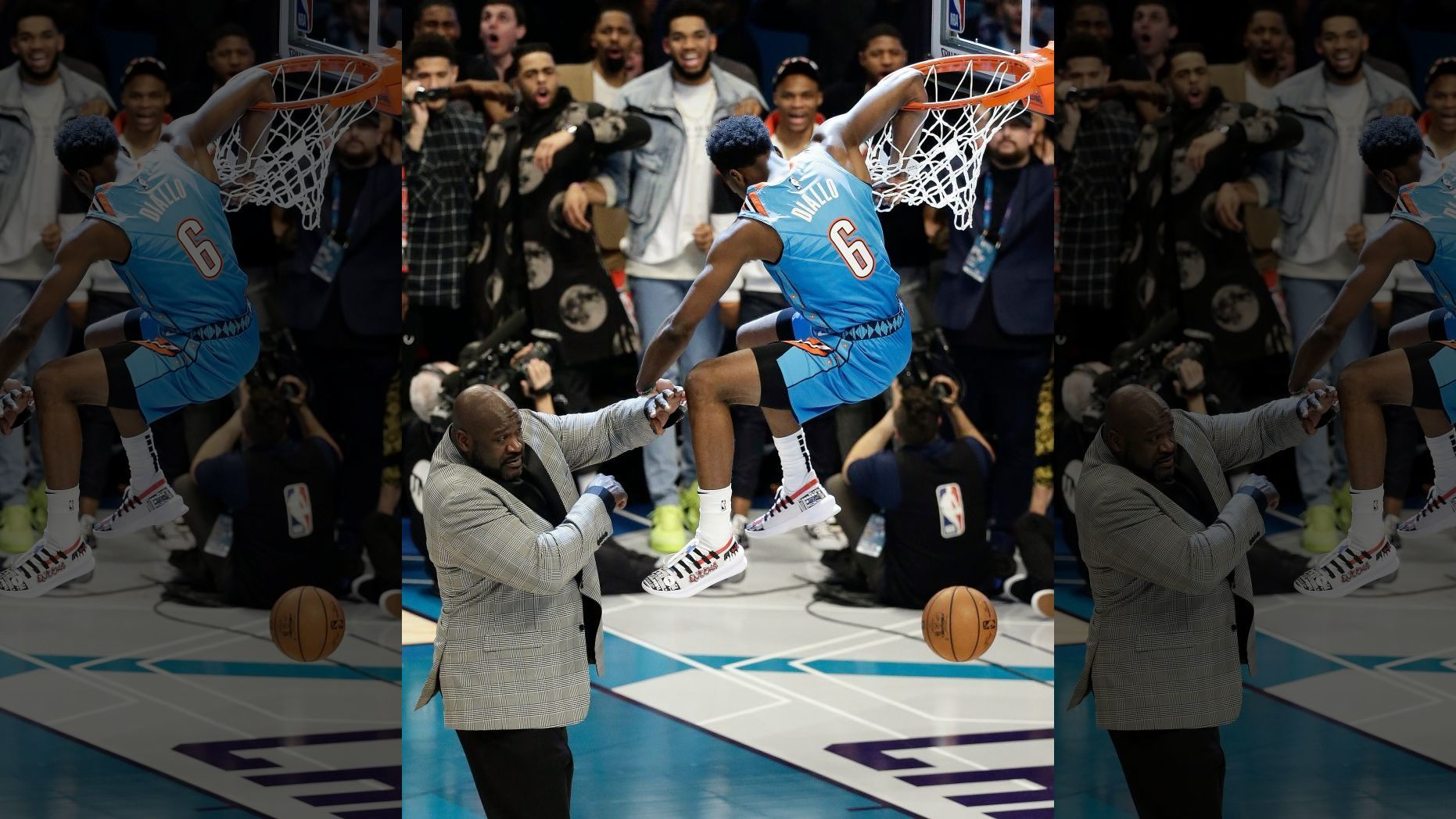 OKC's Hamidou Diallo Leaps over Shaq to Win Dunk Contest
