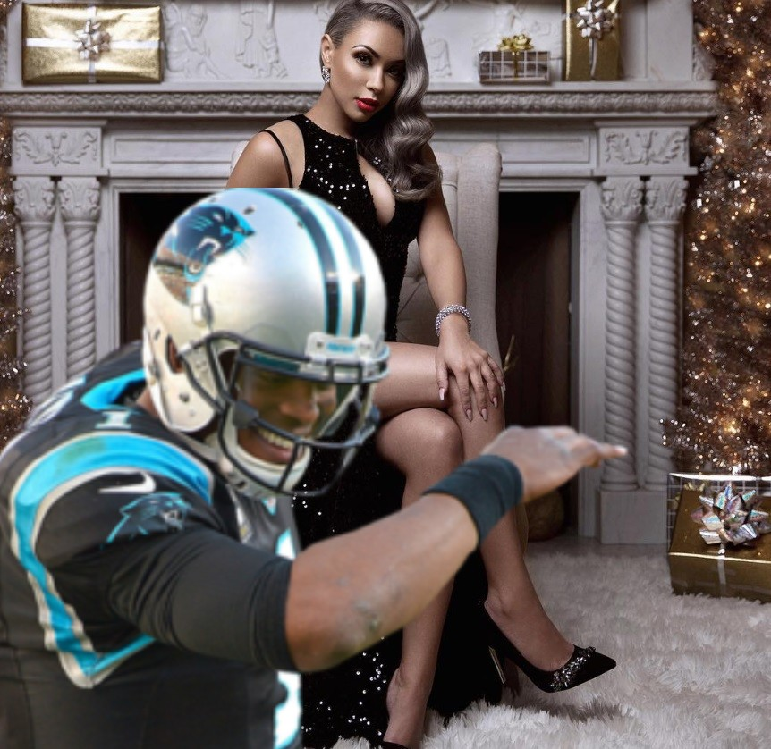 Cam Newton and Girlfriend Kia Proctor Scrub Each Other Clean from IG