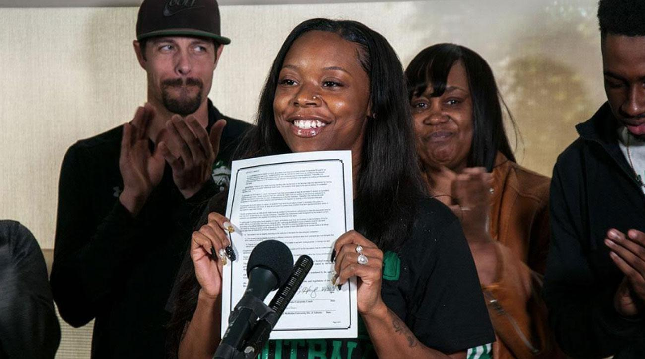 Female Player Makes College Football History by Signing Letter of Intent