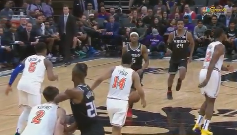 Harry Giles Was Ejected for Hitting Luke Kornet in the Head with an MMA Style Elbow